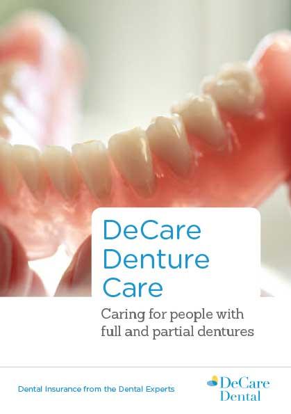 DeCare Denture Care brochure cover