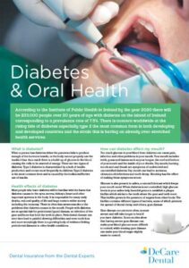 Diabetes and oral health brochure