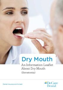 DeCare Dental dry mouth information leaflet cover