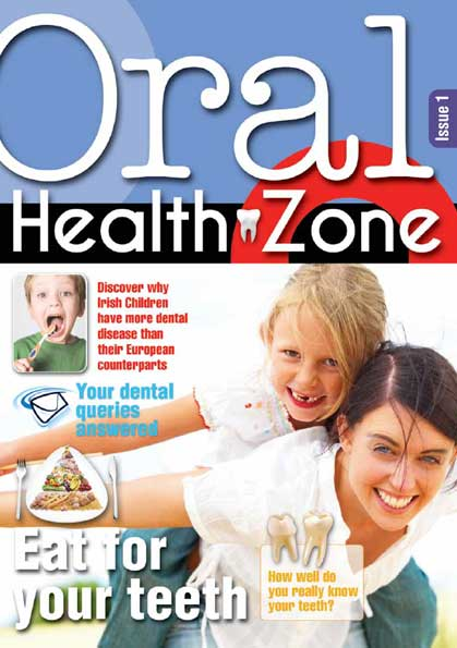 Issue 1 cover of Oral Health Zone magazine