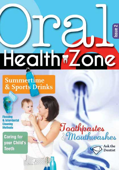 Issue 2 cover of Oral Health Zone magazine
