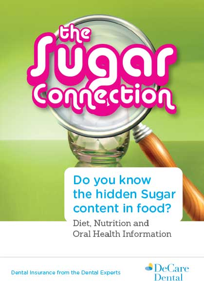 Brochure cover on the hidden sugar content in food