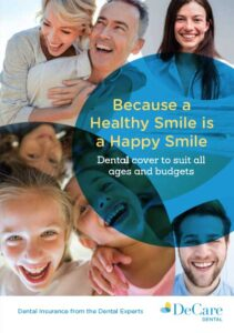 Healthy Smiles brochure cover from DeCare Dental
