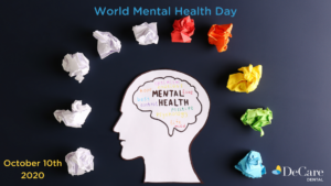 World mental health day graphic from DeCare Dental