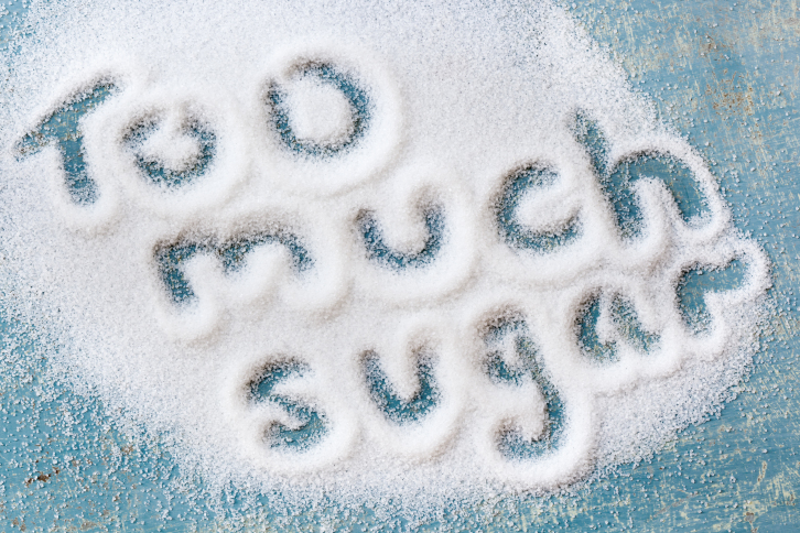 Don't consume too much sugar