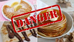 Pancake danger warning for high sugar contents