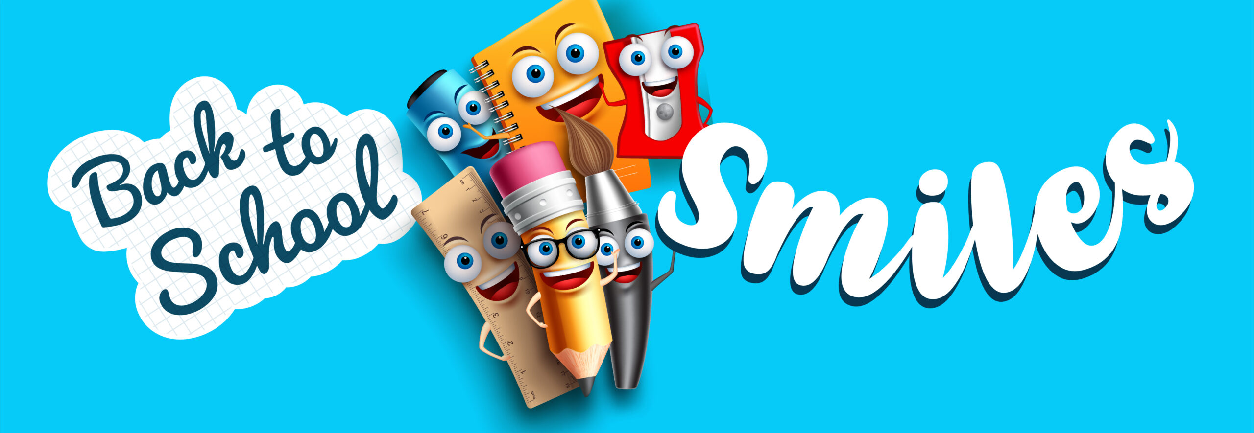Graphic for back to school smiles with DeCare